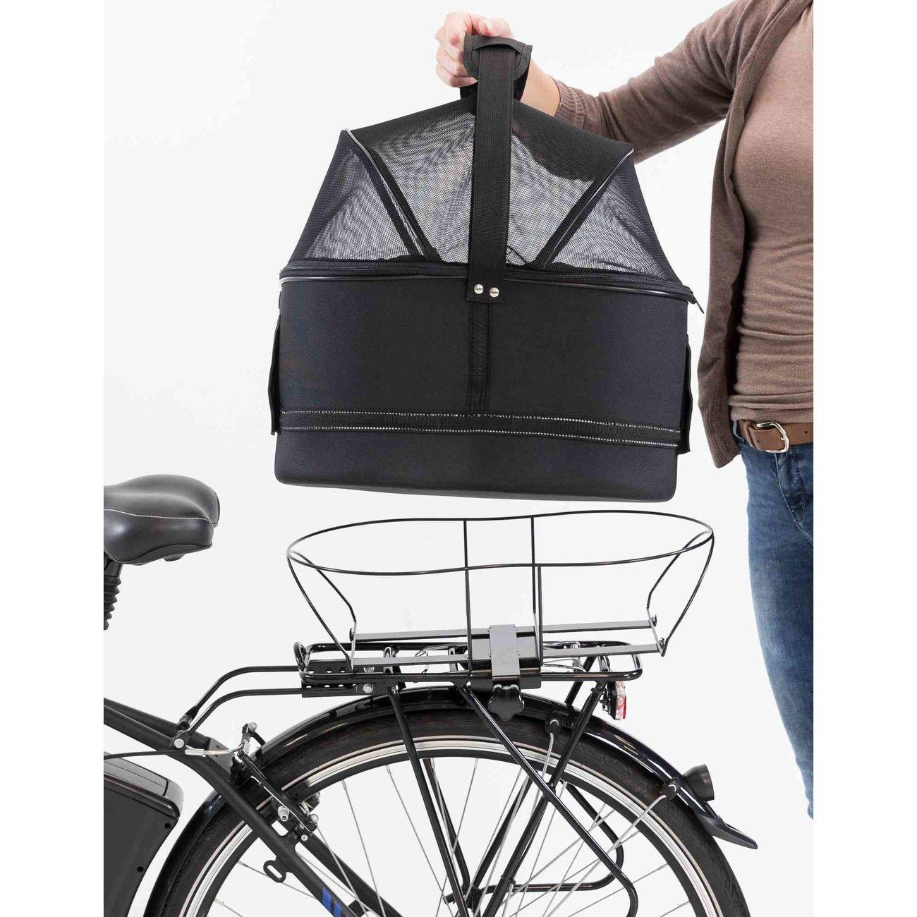 Fahrradtasche mit Metallrahmen für breite Gepäckträger Bild 15