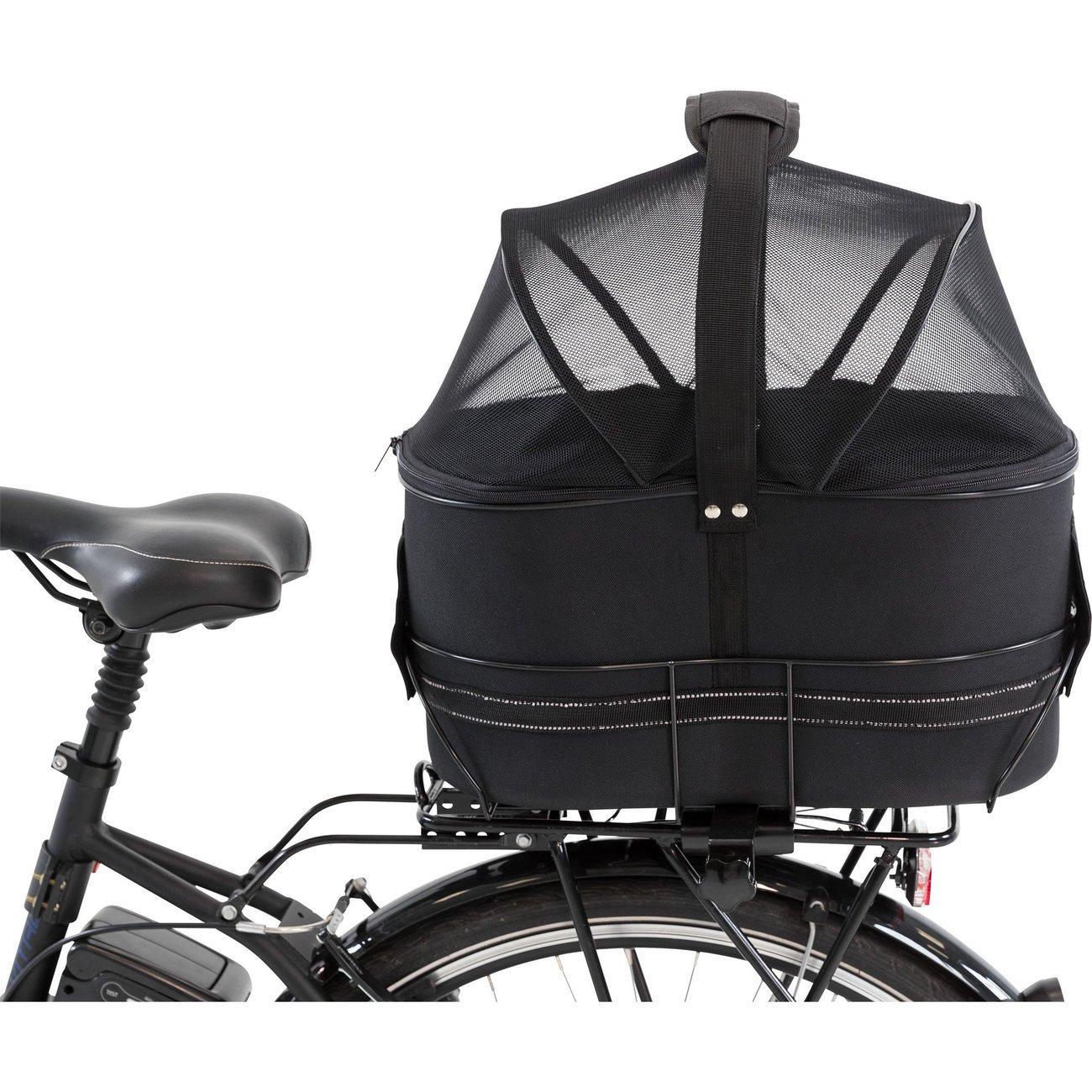Fahrradtasche mit Metallrahmen für breite Gepäckträger Bild 17