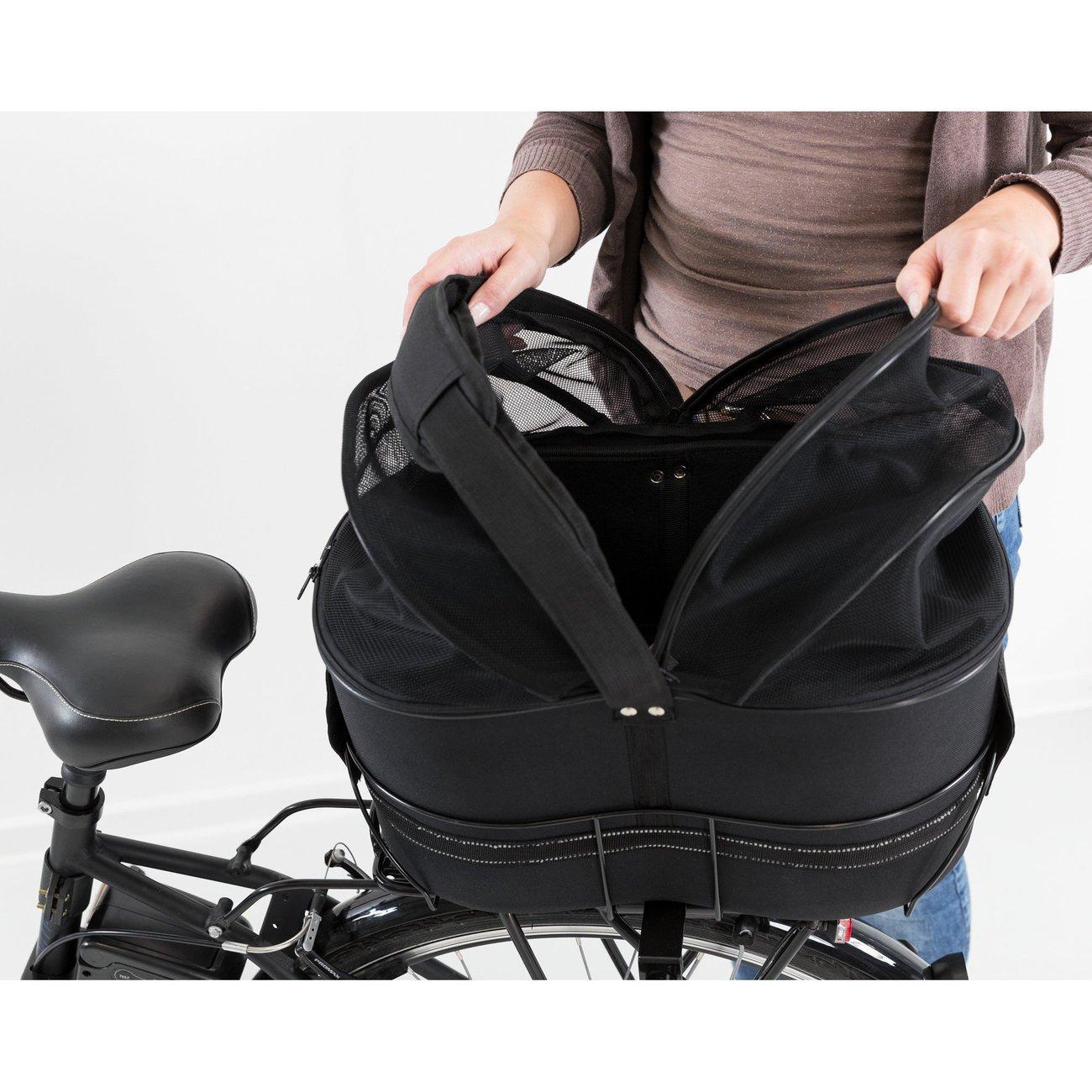 Fahrradtasche mit Metallrahmen für breite Gepäckträger Bild 18