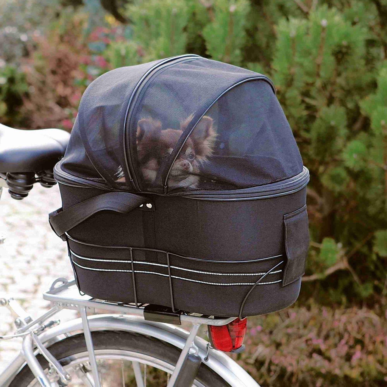 Fahrradtasche mit Metallrahmen für breite Gepäckträger Bild 2
