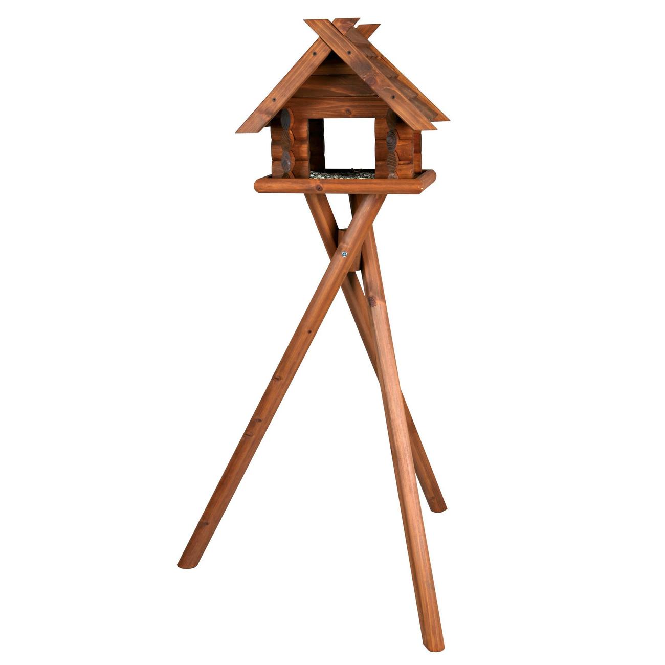 Trixie natura Vogelfutterhaus Blockhaus Bild 1