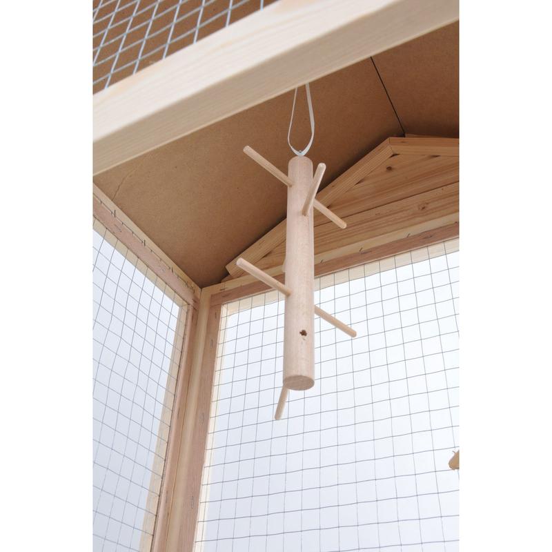 vogel holzvoliere mit bitumen dach von rohrschneider. Black Bedroom Furniture Sets. Home Design Ideas