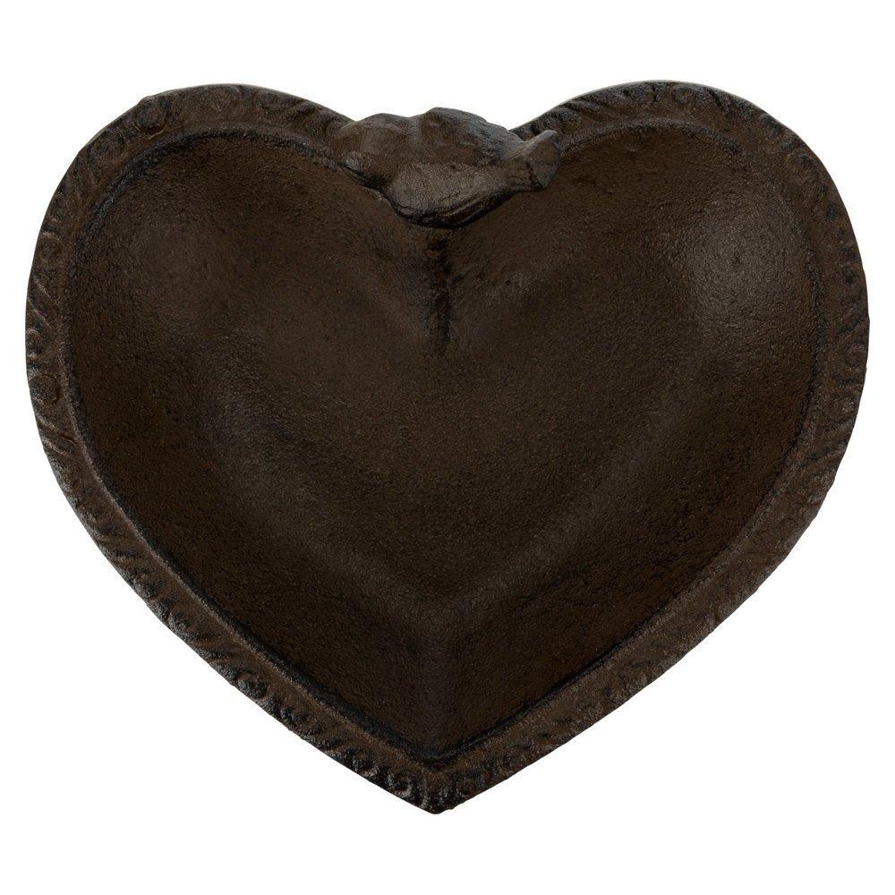 Vogel-Tränke aus Gusseisen Herzform Bild 4