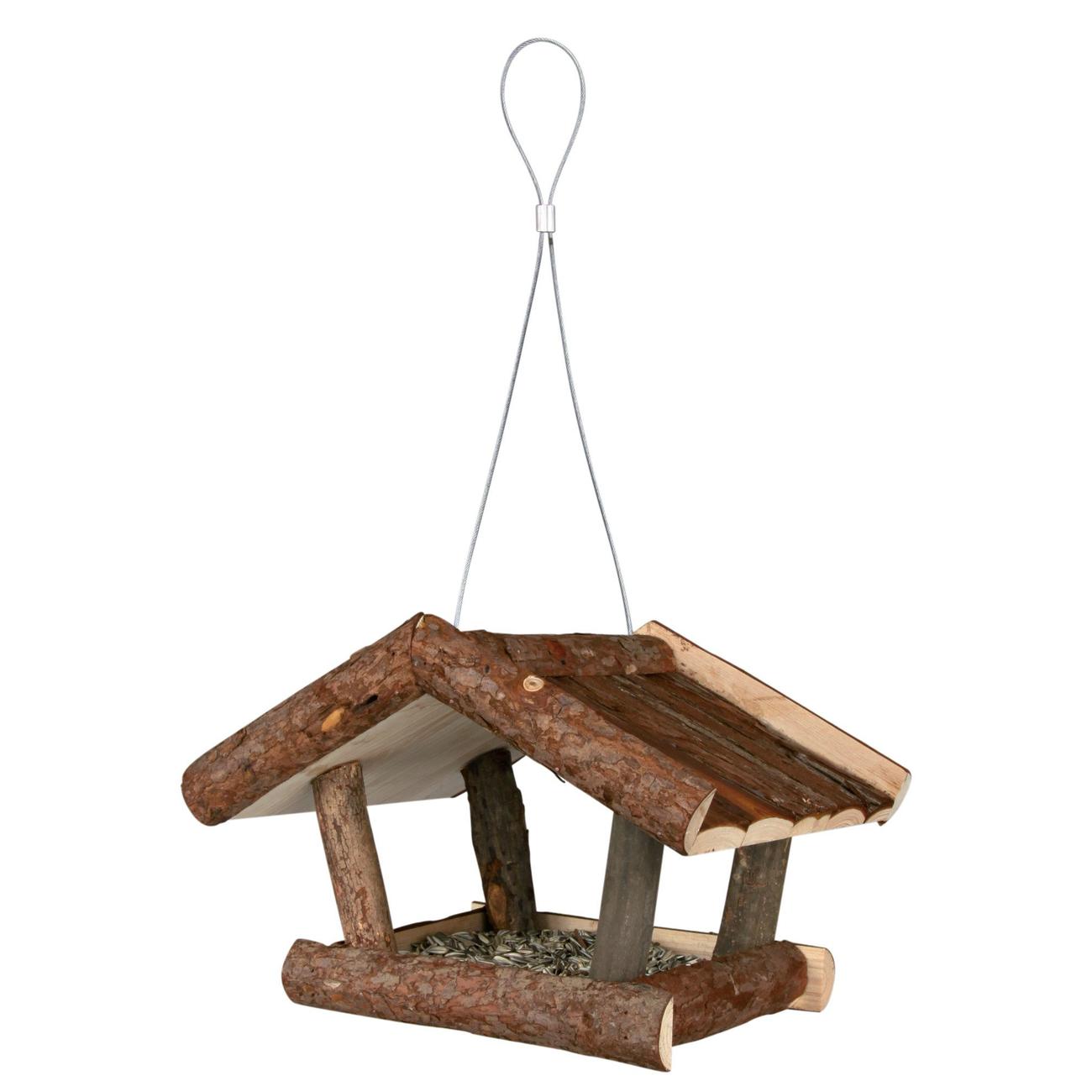 Trixie Vogelhaus aus Naturholz Futterhaus Bild 1