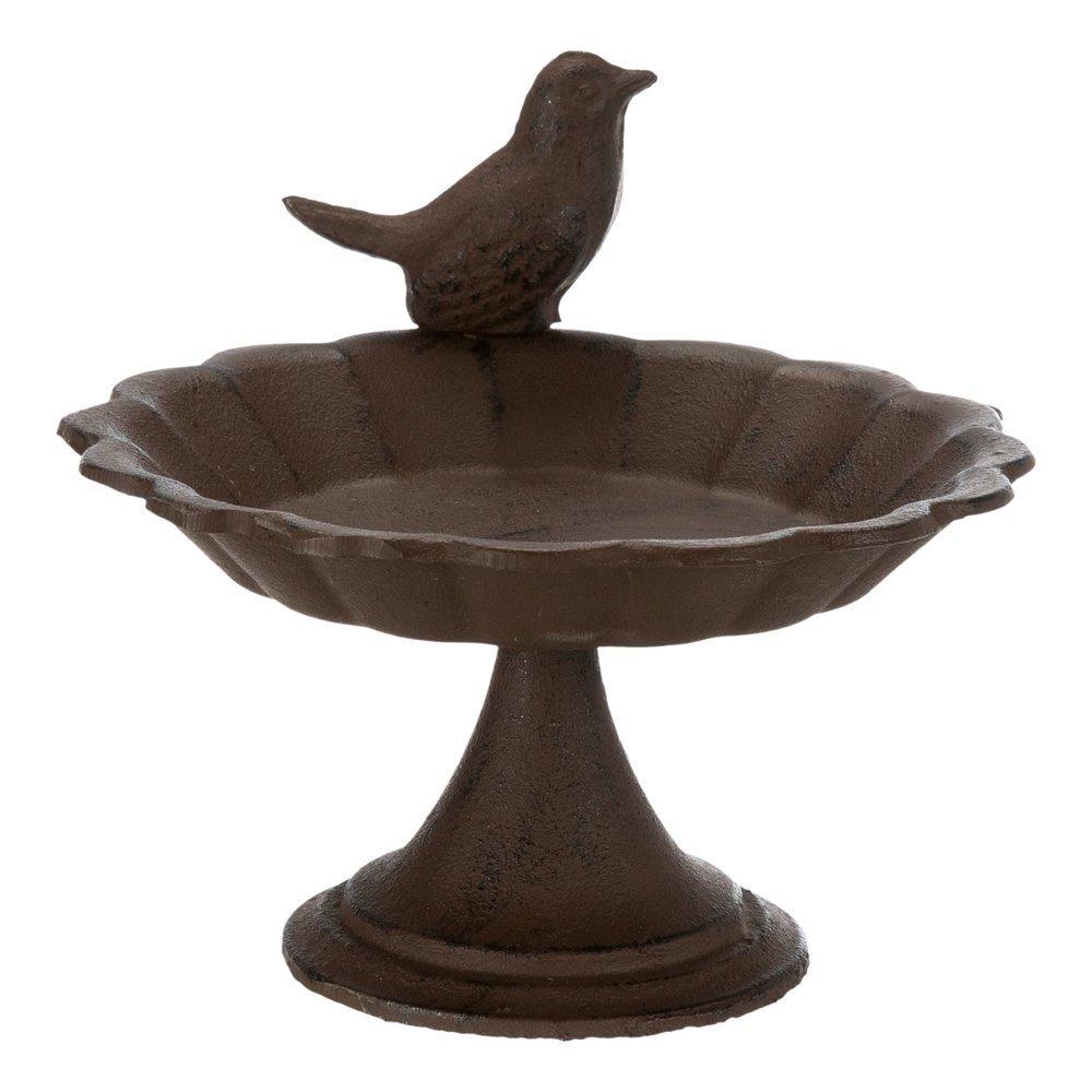 Vogeltränke aus Gusseinsen mit Standfuß Bild 3