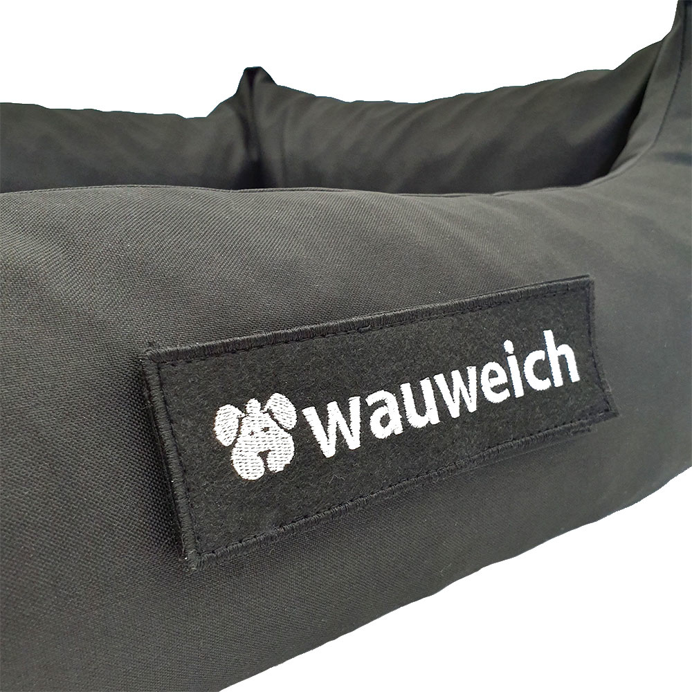 Wauweich Hundebett mit Klettlogo Bild 7