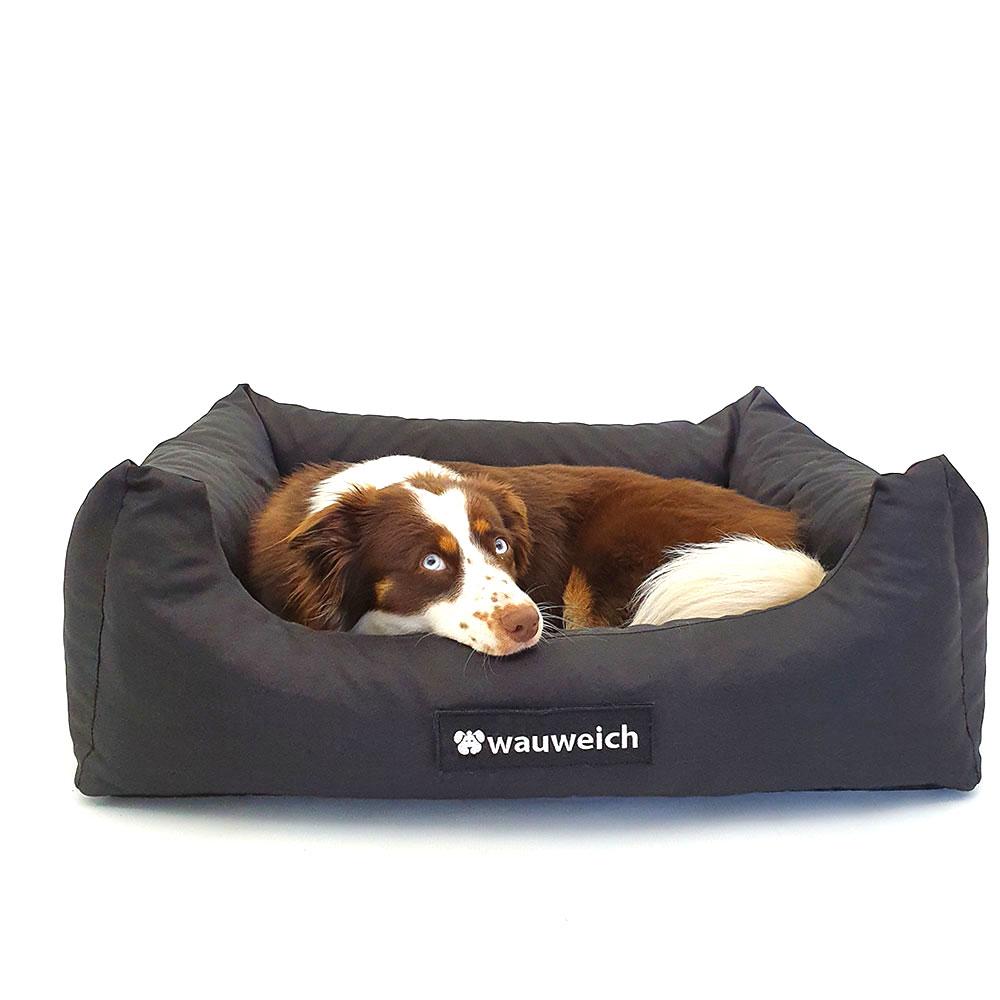 Wauweich Hundebett mit Klettlogo Bild 4