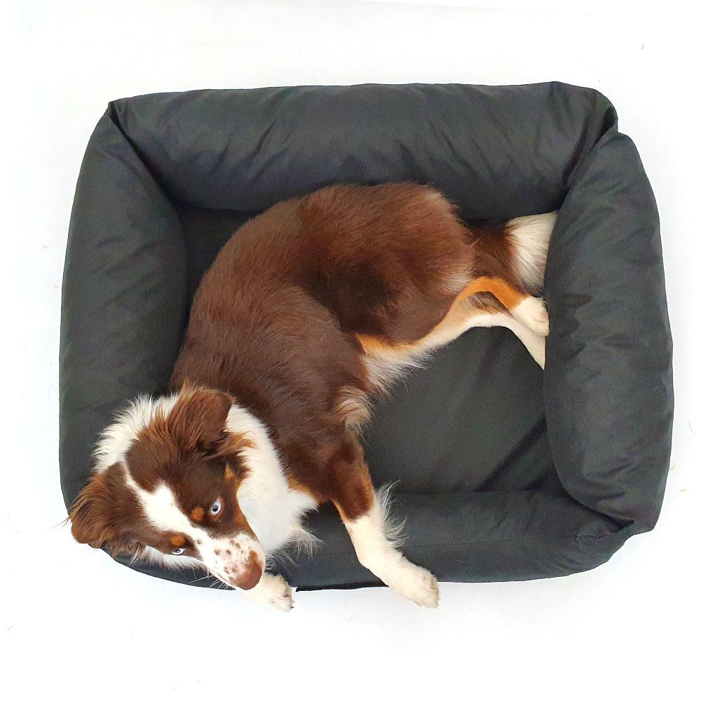 Wauweich Hundebett mit Klettlogo Bild 6