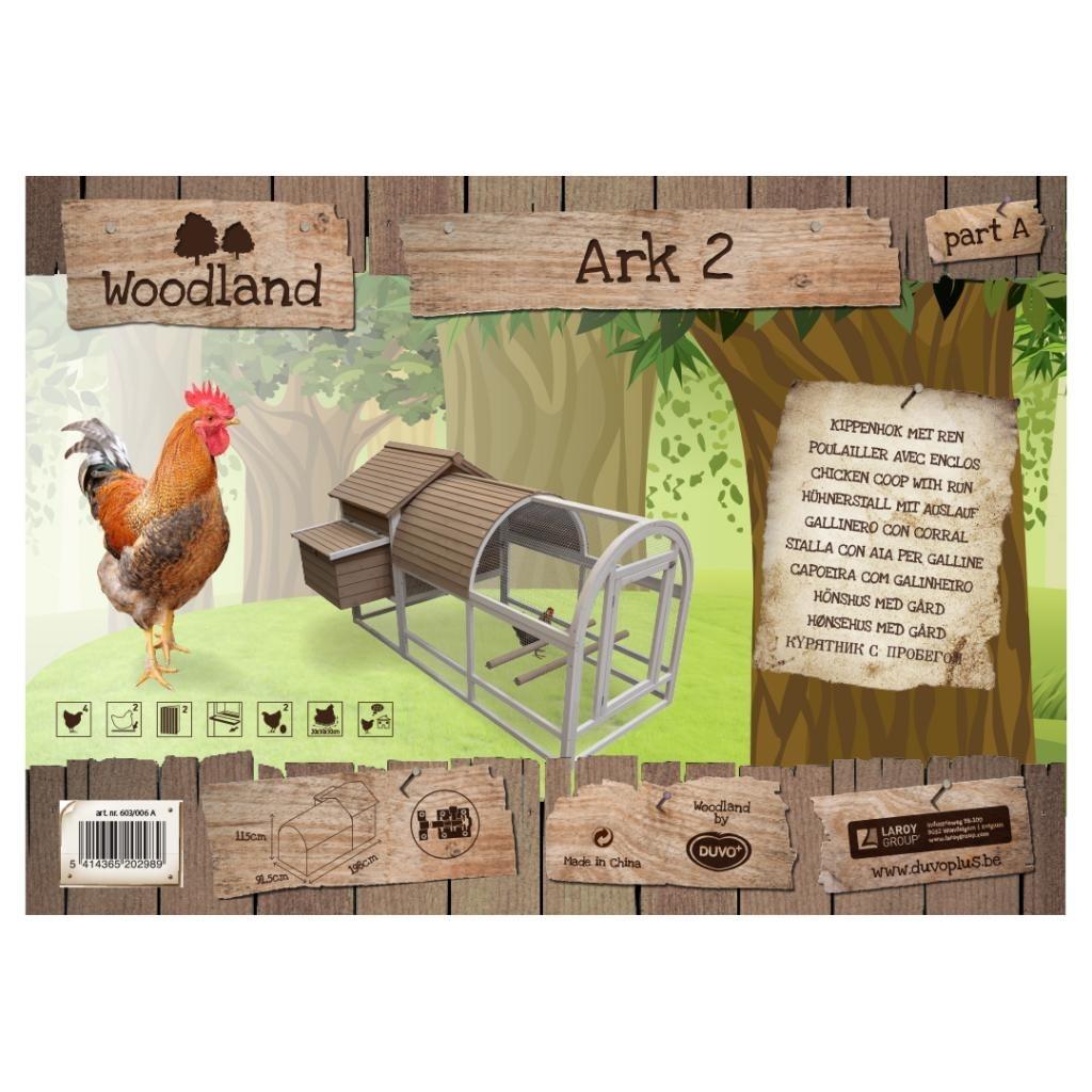 Woodland Hühnerstall Ark 2 mit Auslauf Bild 2