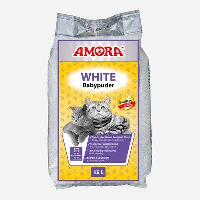 Amora Compact White Katzenstreu mit Babypuderduft Preview Image