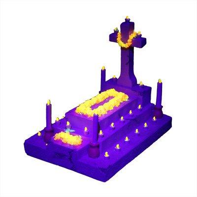 Aqua Della Dia de los Muertos Cross Grave Preview Image
