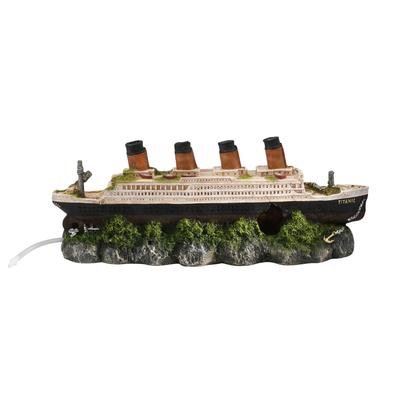 Aqua Della Titanic Schiffswrack Aquarium Deko Preview Image