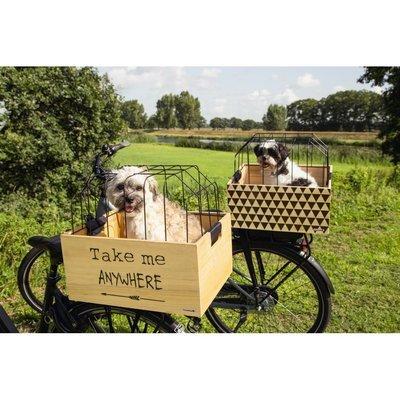 Beeztees Fahrradkorb Holzkiste mit Gitter Preview Image