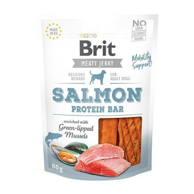 Brit Meaty Jerky Salmon Protein Bar Preview Image