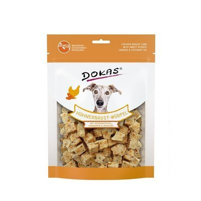Dokas Hundesnack Hühnerbrust-Würfel mit Süsskartoffel Preview Image