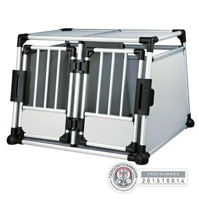 TRIXIE Doppel Transportbox Alubox Autobox für 2 Hunde Preview Image