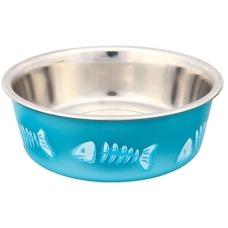 TRIXIE Edelstahlnapf für Katzen mit Kunststoffmantel Preview Image