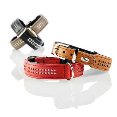 Hunter Elchlederhalsband mit Strass Diamond Petit für kleine Hunde Preview Image