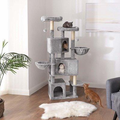 FEANDREA Kratzbaum groß mit 3 Katzenhöhlen Preview Image