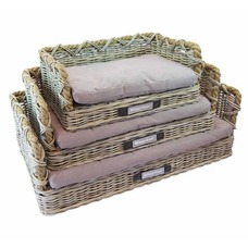Happy House Rattan Hundebett mit Tau Preview Image