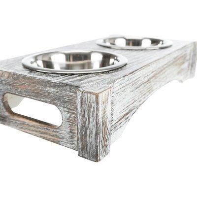 TRIXIE Hundenapf doppelt mit Vintage Holzständer Preview Image