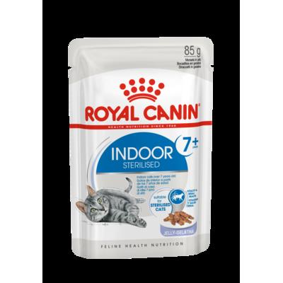 Royal Canin Indoor Sterilised Katzenfutter 7+ nass in Gelee und Sauce Preview Image
