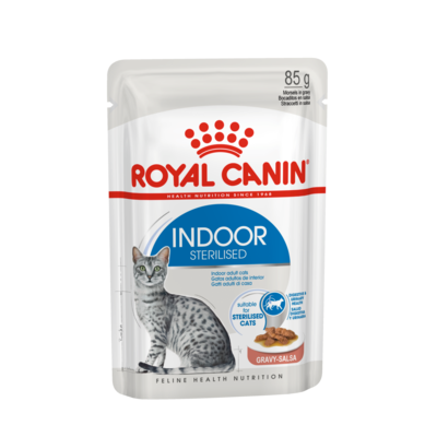 Royal Canin Indoor Sterilised Katzenfutter adult nass in Sauce oder Gelee Preview Image