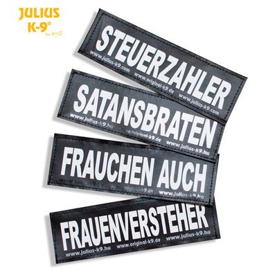 Julius K9 Logo Klettsticker groß G-L Preview Image