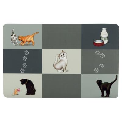 TRIXIE Katzen Napfunterlage Patchwork Cat Preview Image