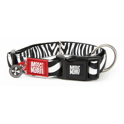 Max & Molly Smart ID Hundehalsband Zebra Classic Preview Image