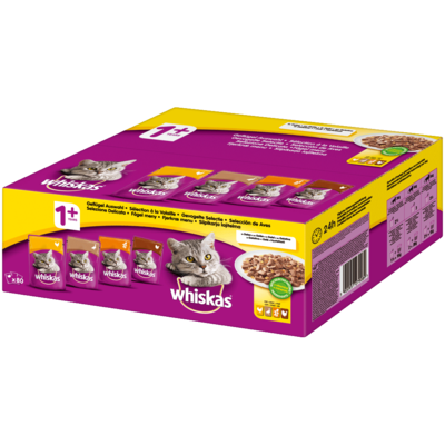Whiskas Multipack Portionsbeutel 1+ Geflügelauswahl Preview Image