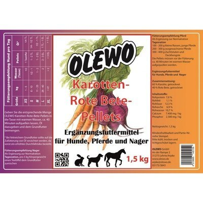 Olewo Karotten Rote Bete Pellets Preview Image