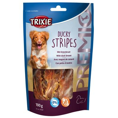 TRIXIE Premio Ducky Stripes getrocknete Entenbrust Preview Image
