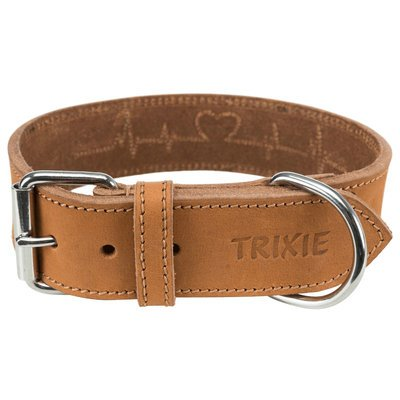 TRIXIE Rustic Fettleder-Hundehalsband Heartbeat Preview Image