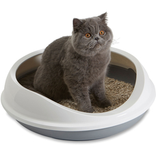 Savic Figaro ovale Katzentoilette mit Rand Preview Image