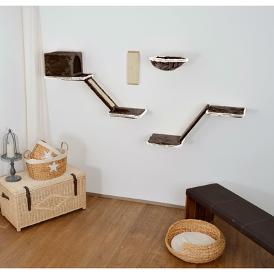 Silvio Design Katzen Kletterwand mit Treppe 8-teilig Preview Image
