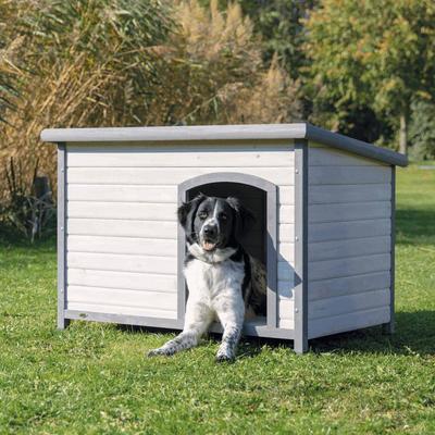 TRIXIE natura Hundehütte Classic mit Flachdach grau Preview Image