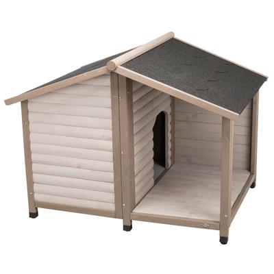 TRIXIE natura Hundehütte Lodge mit Satteldach grau Preview Image