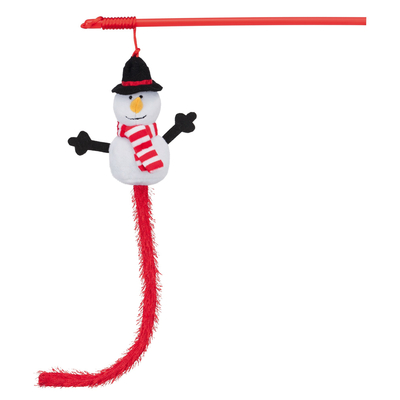 TRIXIE Weihnachts-Spielangel mit Schneemann Preview Image
