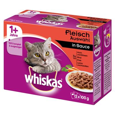 Whiskas Frischebeutel saftige Häppchen in Sauce Katzenfutter Preview Image