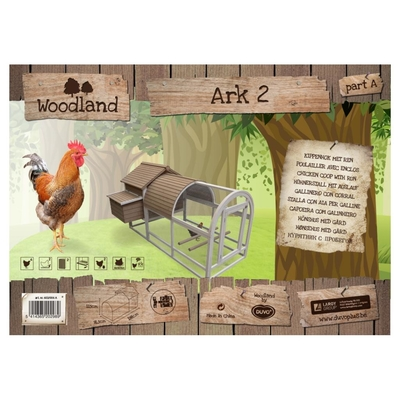 Duvo+ Woodland Hühnerstall Ark 2 mit Auslauf Preview Image