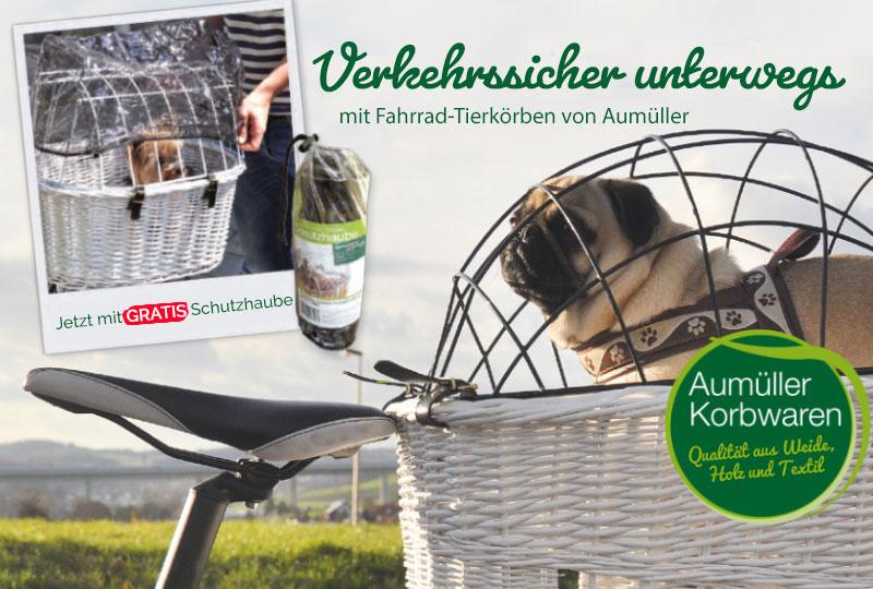 Aumüller Fahrradkorb für Hunde