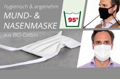 Mund- und Nasenmaske aus Bio-Cotton
