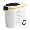 Curver Katzenfutter-Behälter Dinner Is Served 35 ltr, 12 kg Trockenfutter, weiss