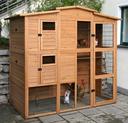 Hühnerhaus Hühnerstall XXL aus Holz 222 x 115 x 200 cm