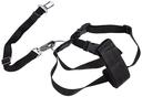 Hunde Sicherheitsgurt Sicherheitsgeschirr für das Auto XS: 20–50 cm, schwarz