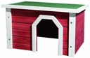 Kleintierhaus aus Holz rot weiß 50 × 30 × 37 cm, rot/weiß