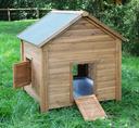 Kleintierstall für Hühner oder Kaninchen L 105 x B 100 x H 108 cm