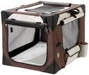 Smart Top Deluxe Hundebox Transportbox L: 61 cm B: 46 cm H: 43 cm beige-braun