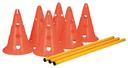 Trixie Dog Activity Agility Hindernisse Pilonen Maße: ø 23 × 30 cm, 78 cm Inhalt: 6 Pylonen, 3 Stangen, orange/gelb